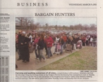 Spring 2011 Newspaper Article